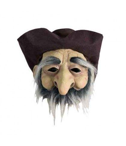 Μάσκα Γέρου Λάτεξ Με Καπέλο Και Μουστάκι.