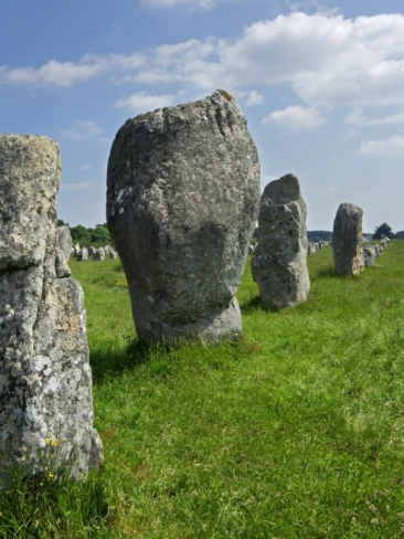 Standing Stones in the Menec alignment at Carnac, Brittany.  http://www.carnac-tv.fr