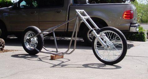 DIY old school chopper frame build