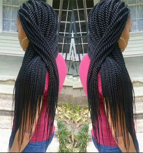 18inch senegalese twist hair crochet braids (5pcs full one head)