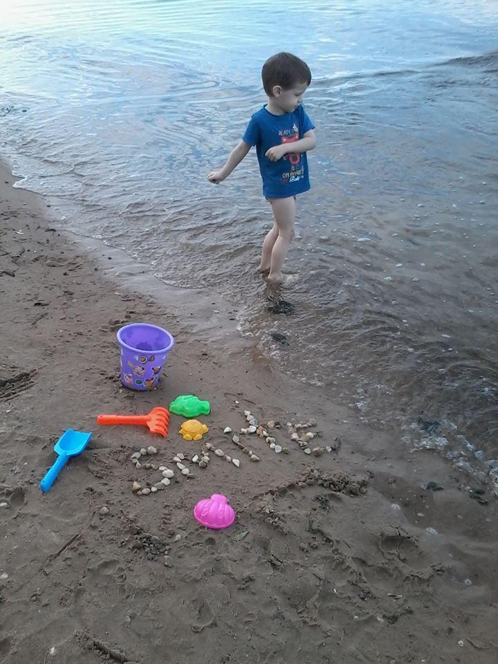 Мы с сынулькой у реки, он тоже любит Smite))) #SmiteEverywhere #Smite #Смайт #SmiteProRu