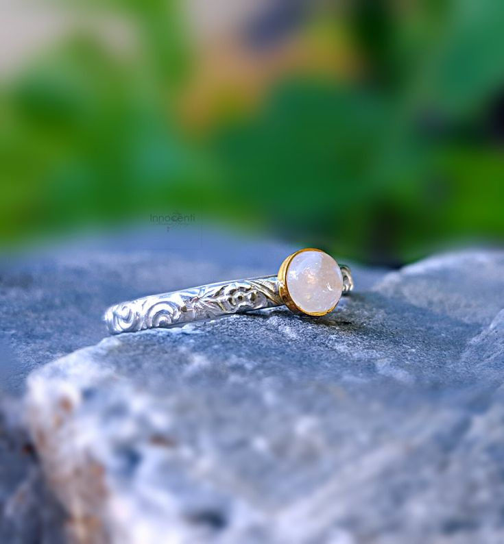 Moonstone Ring Ring Moonstone Fire Moonstone Ring Rainbow Moonstone Ring Moonstone Stacking Ring Dainty Ring Engagement Gift Promise Ring by INNOCENTIJEWELRY on Etsy