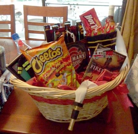 fireman's gift basket | Gifts | Firefighter gifts, Homemade gift baskets, Gift baskets