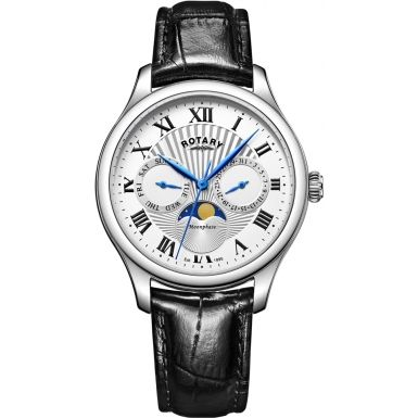 Rotary GS05065-01 Mens Timepieces Moonphase Black Chronograph Watch $154