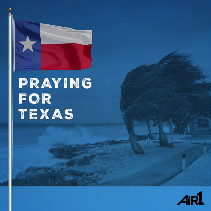 A big shout out to our friends in Texas! Your Air1 family loves you...and we're praying as Harvey heads your way. #harvey #texas #praying