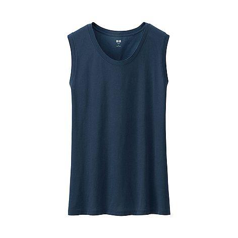 WOMEN Supima Cotton Washed Tank Top ?-?UNIQLO?UK?Online?fashion?store