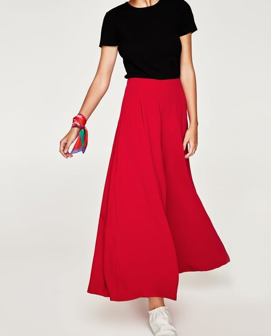 25586c855 Image 4 of FLOWING PALAZZO TROUSERS from Zara | My style in 2019 ...