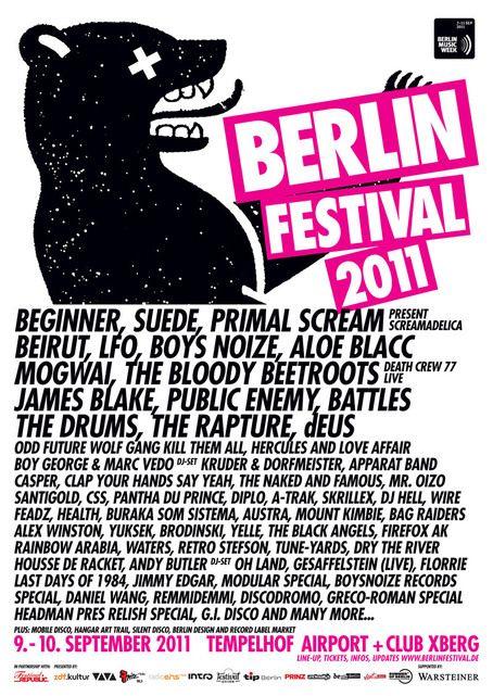 Berlin Festival 2011Festivals 2011, Picture-Black Posters, Berlin Festivals, Events Flyers