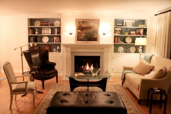 Built In Bookcases Around Fireplace Living Room