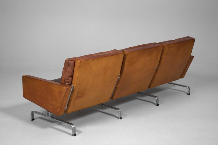 "Paul Kjærholm Three Seater Sofa ""PK 31/3""."