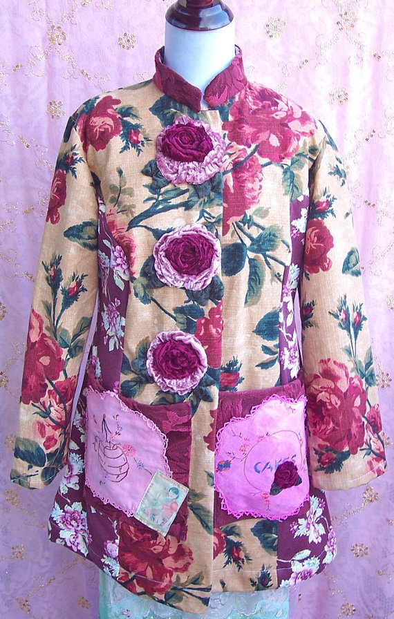 Stunning Chinese jacket with upcycled textiles