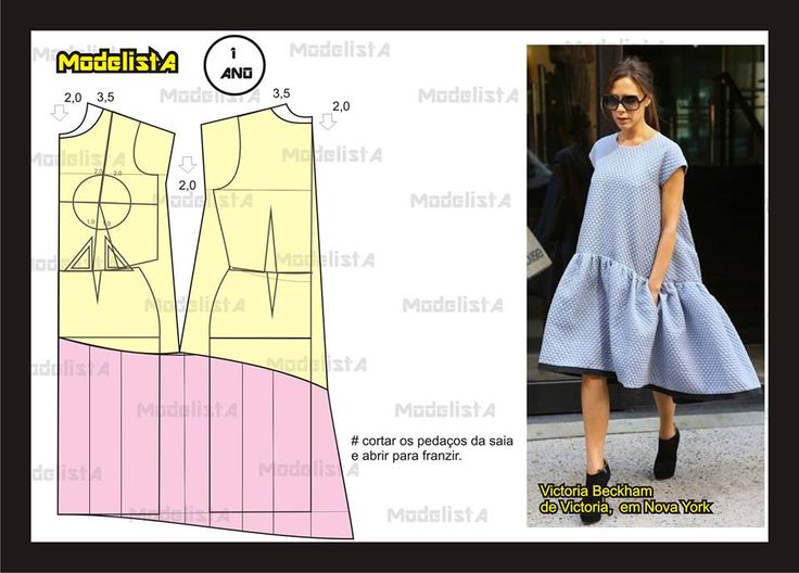 Modelagem do vestido de Victoria Beckham. Fonte: https://www.facebook.com/photo.php?fbid=568583019844274&set=a.426468314055746.87238.422942631074981&type=1&theater