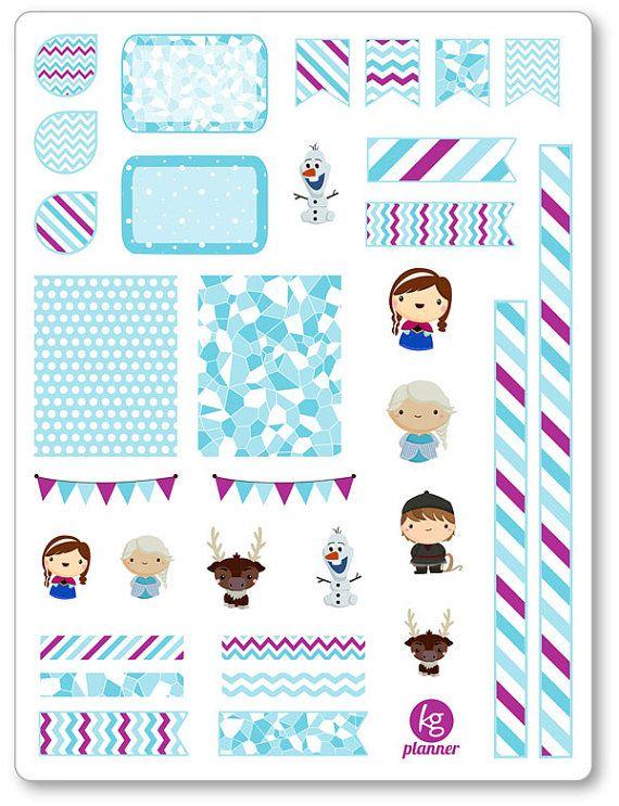 Frozen Friends Decorating Kit / Weekly Spread Planner by KGPlanner