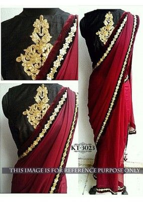 Bollywood Replica - Designer Red Saree - KT-3023