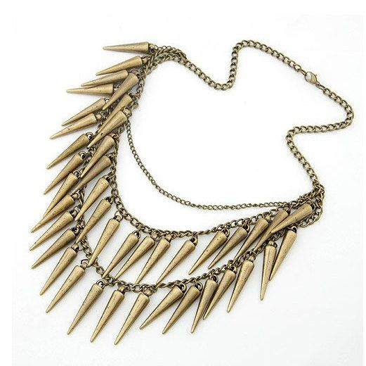 Women's Punk Style Double Chain Spiked Rivet  by NyxisUnderground, $4.50