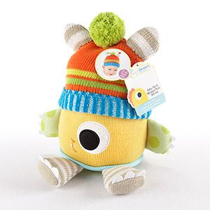 Presenting Clyde the Closet Monster Knit Baby Hat and Plush Toy Gift Set - www.babygiftemporium.com/closetmonster.html