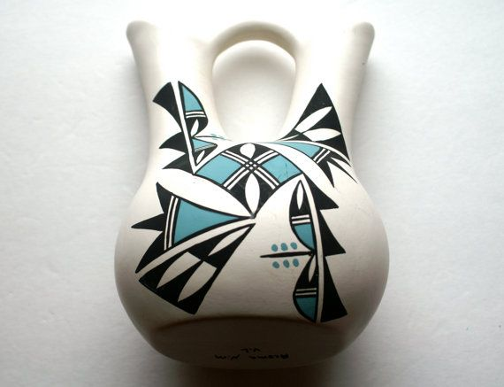 Acoma pottery Native American wedding vase