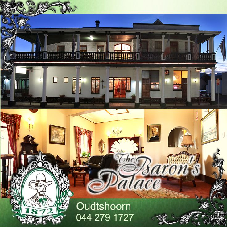 Baron's Palace comprises of 31 en-suite apartments, each of which is equipped with a telephone and colour TV. Other facilities include an a la-carte restaurant, a Bistro and a bar. The hotel is well-positioned to explore the many attractions of Oudtshoorn. Ample secure parking is available. Children are welcome.  Come and visit us. For Bookings Click Here: http://besociable.link/4h Send e-mail: info@baron.co.za