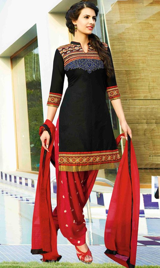 Beautiful Cotton Punjabi #Patiala_Suit 48422 (USD 32.90)