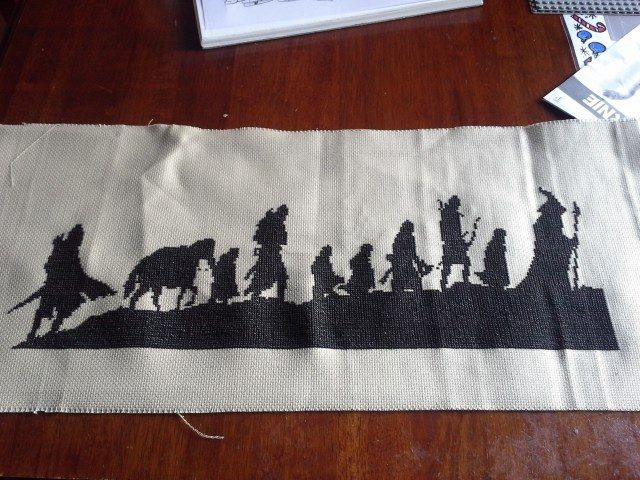 Lord of the Rings cross stitch I made for my mother-in-law for Christmas/birthday present.