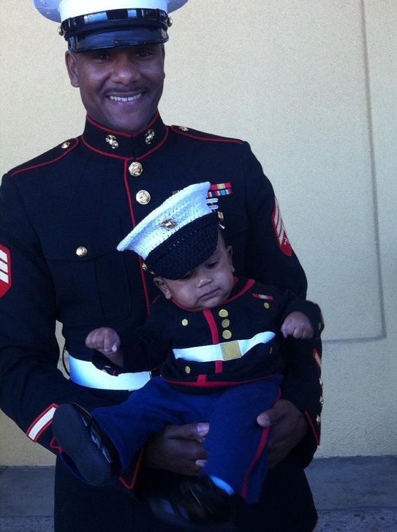 Hey, I found this really awesome Etsy listing at https://www.etsy.com/listing/158121566/marine-corps-baby-hat-usmc-dress-blues