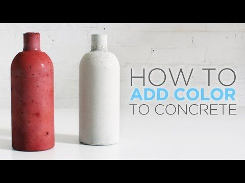 Concrete, casting and coloring.