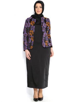 Janine Ceket Elbise Takım - Vizon Mor - Melisita :: Zinde Market