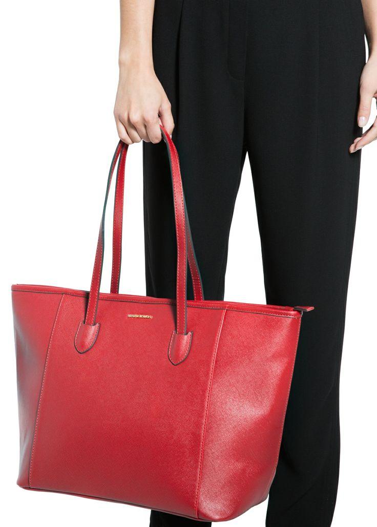 MANGO - Saffiano-effect shopper bag