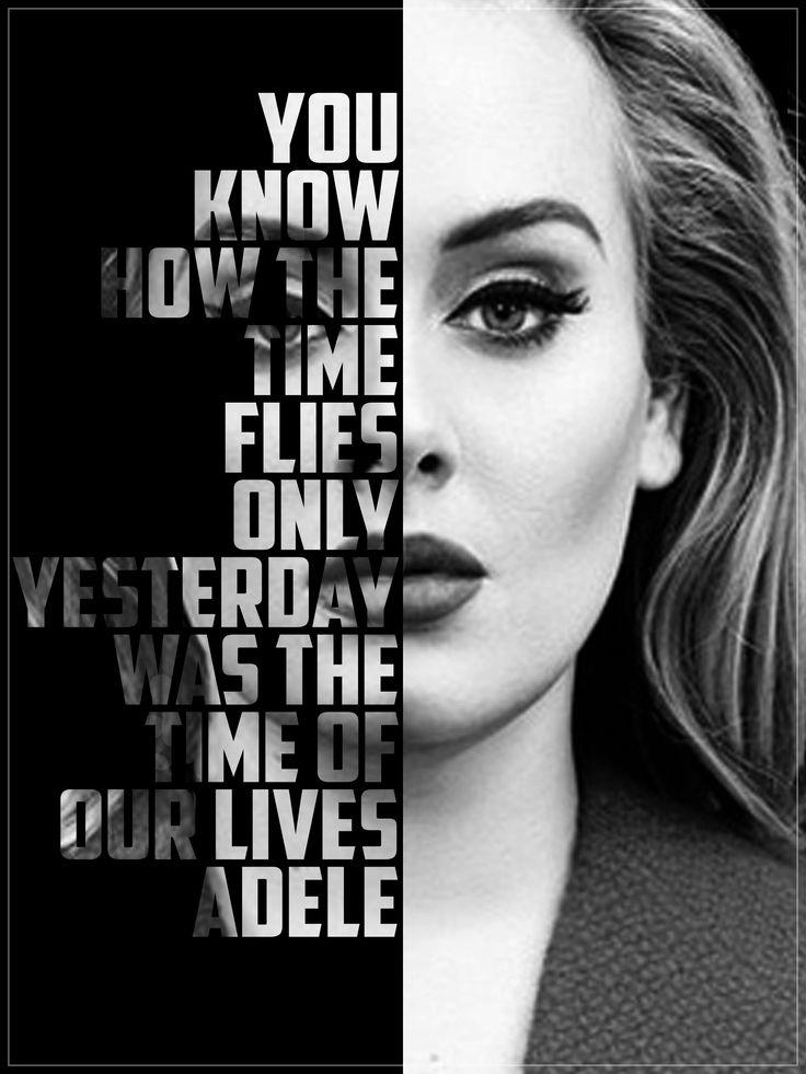 Adele art photoshop typography someone like you lyrics singer