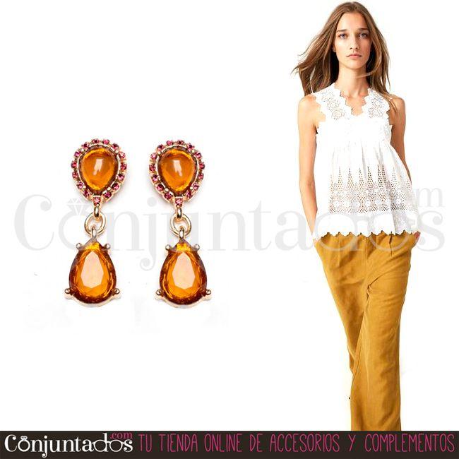 Completa tu #outfit con nuestros discretos y bonitos #pendientes de lágrima Ámbar ★ Precio: 6,95 € en http://www.conjuntados.com/es/pendientes-de-lagrima-ambar.html ★ #novedades #earrings #conjuntados #conjuntada #joyitas #jewelry #bisutería #bijoux #accesorios #complementos #moda #fashion #fashionadicct #picoftheday #estilo #style #GustosParaTodas #ParaTodosLosGustos