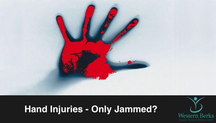 """Sixteen million Americans go to the emergency room every year with hand injuries. Unfortunately, many more who decide their fingers are """"only jammed"""" should see a physician."""
