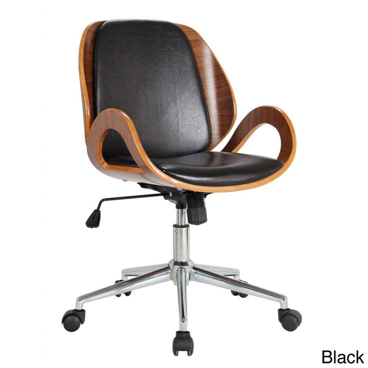 This stylish upholstered desk chair is available with brown or black  upholstery. The chrome- - Best 25+ Upholstered Desk Chair Ideas On Pinterest Office Desk