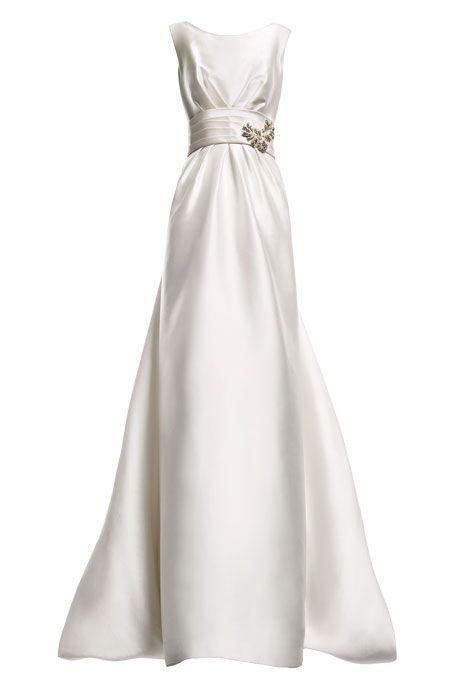 167 best pretty bridal images on pinterest wedding for Wedding dresses straight cut