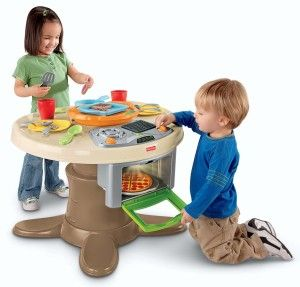 Toys For 2 yr Old Girls: Fisher-Price Servin' Surprises Kitchen & Table One of the nicest things about the Servin' Surprises Kitchen and Table is the fact that most of the kitchen accessories can easily be stored inside when not in use.   http://bit.ly/1K0j0FI