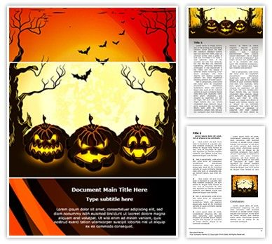 Halloween Word Templates. 13 download free flyer templates in ...
