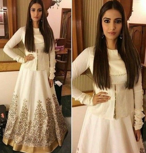 Looking for a similar white lehenga with a top as Sonam Kapoor is wearing