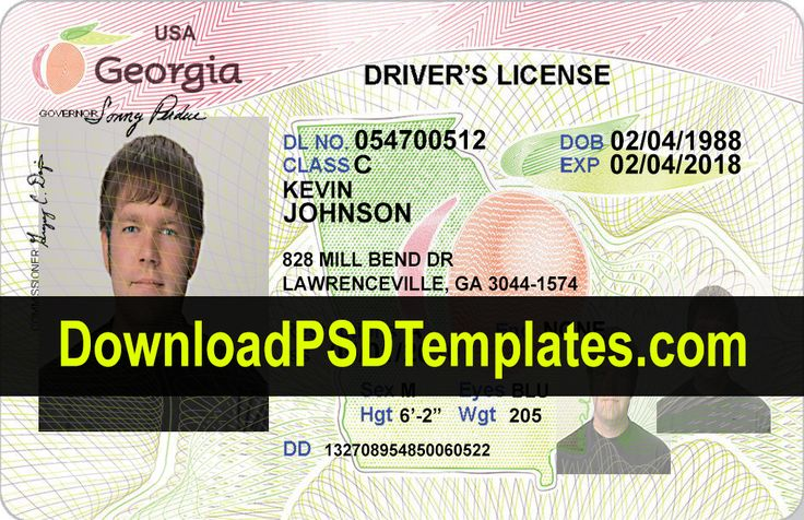 Drivers license editable psd template download