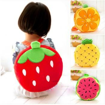 Baby Schoolbag Fresh Fruit Backpack Children Bag
