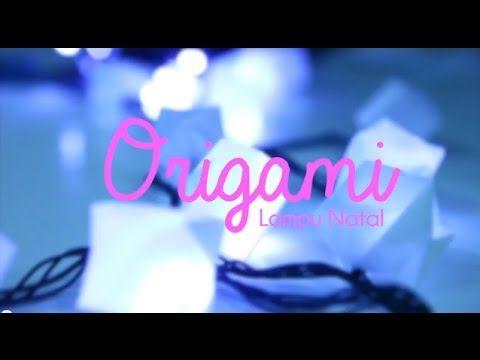 CUBE ORIGAMI FOR CHRISTMAS LIGHTS #origami #cube #lights #led #DIY #tutorial #decoration #christmasdecoration