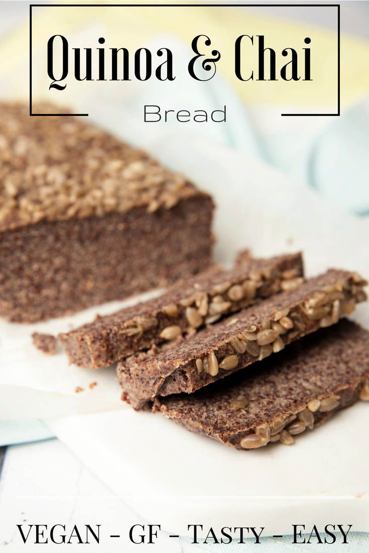 3 Minute Gluten Free Vegan Quinoa Chia Bread, I could have also added, easy, healthy, high fibre, low GI and TASTY. This loaf has a lot to offer! #GF #Thermomix #vegan #DF via @thermokitchen