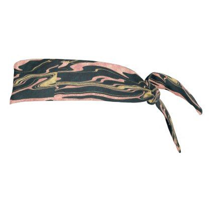 Classy abstract marbleized paint image tie headband - marble gifts style stylish nature unique personalize