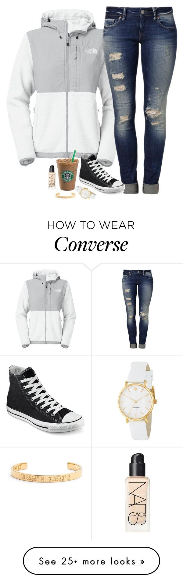 """Untitled #813"" by mads-thompson on Polyvore featuring moda, The North Face, Mavi, Converse, Kate Spade, NARS Cosmetics i Coordinates Collection"