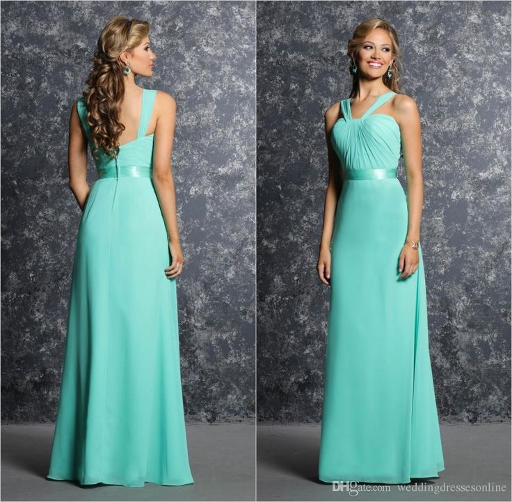 Buy wholesale after six bridesmaid dresses,aqua bridesmaid dresses along with beach bridesmaid dresses on DHgate.com and the particular good one- green long elegant bridesmaid dresses summer pleated chiffon v-neck sleeveless floor length a-line zipper girls prom party dress gowns 2016 is recommended by weddingdressesonline at a discount.
