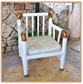 silla con tubos de pvc, silla con tubos blancos, como hacer una silla de tubos…
