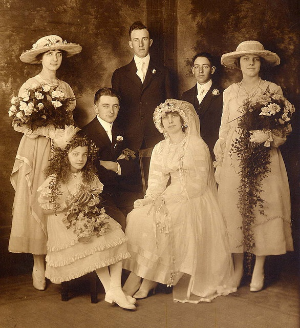 Raymond Married Josephine in 1917 Wedding Dress