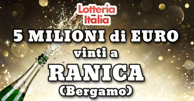 """Vinto a Ranica (Bergamo) il primo premio della Lotteria Italia 2016 Anche quest'anno è avvenuta il giorno dell'Epifania l'estrazione della Lotteria Italia. I premi di prima categoria sono stati annunciati durante la trasmissione di Rai 1 """"Affari Tuoi"""". #estrazioni #lotteriaitalia #affarituoi"""