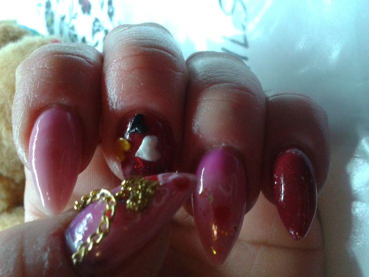 valentine's day acrylic nail's