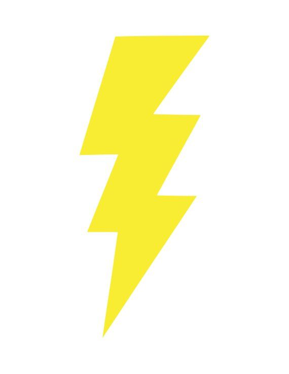 Lightning bolt  svg,  png, and  dxf cut and/or clipart files