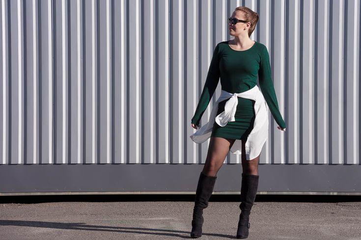 Emmy's Life - MOSS GREEN DRESS http://emmys.life/2015/october/moss-green-dress.html #outfit #fashionblog #finland #finlandssvensk
