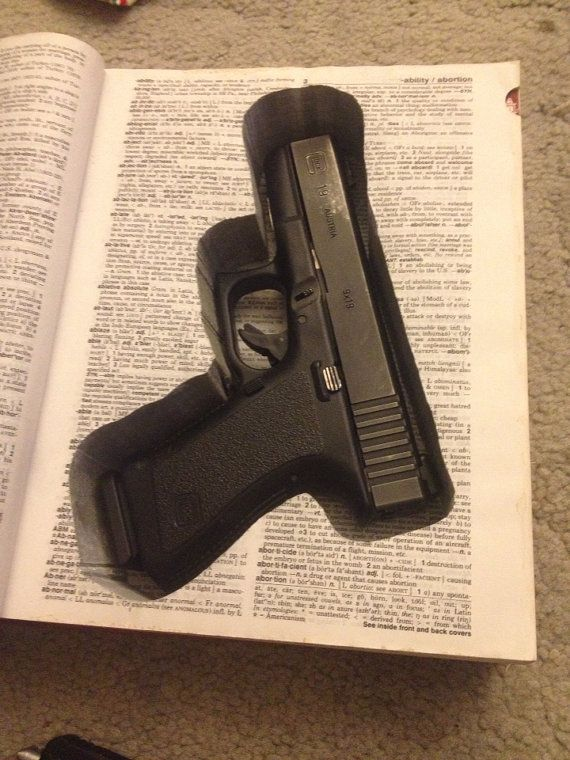 Book Gun Safe Made to order by 33rdStreetKnits on Etsy. Gun glock 1911 .22 hidden unique